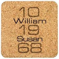 Personalized Milestone Coasters