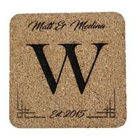 Personalized Art Deco Wedding or Anniversary Coasters