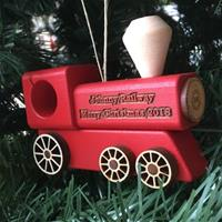 Train Ornament - Red
