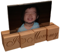 Personalized Block Photo Holder