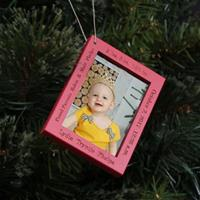 Baby Stats Frame Ornament