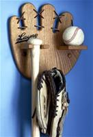 Personalized Baseball, Bat, Glove Rack