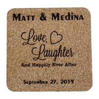 Personalized Happily Ever After Wedding or Anniversary Coasters