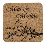 Personalized Love Birds Wedding or Anniversary Coasters