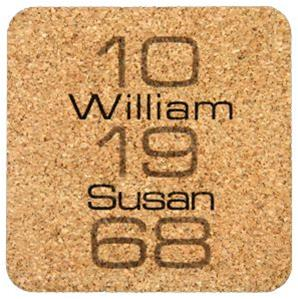 Personalized Milestone Coaster