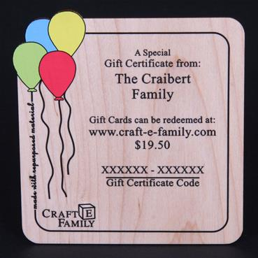 Wooden Gift Certificate