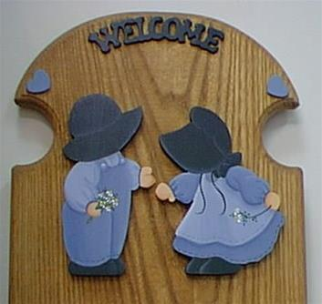Amish Boy & Girl Light Blue