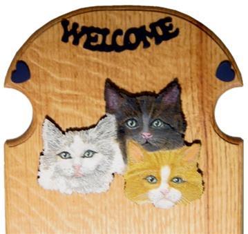 Three Cat Faces