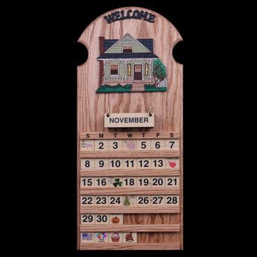 Farm House Sage Wooden Pepetual Calendar