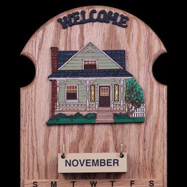 Farm House Sage Wooden Perpetual Calendar