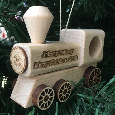 train ornament natural