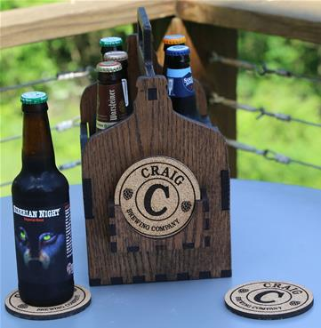 Beer Caddy Coaster Holder