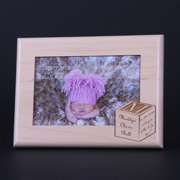 Personalized Baby Block Picture Frame - Craft-E-Family