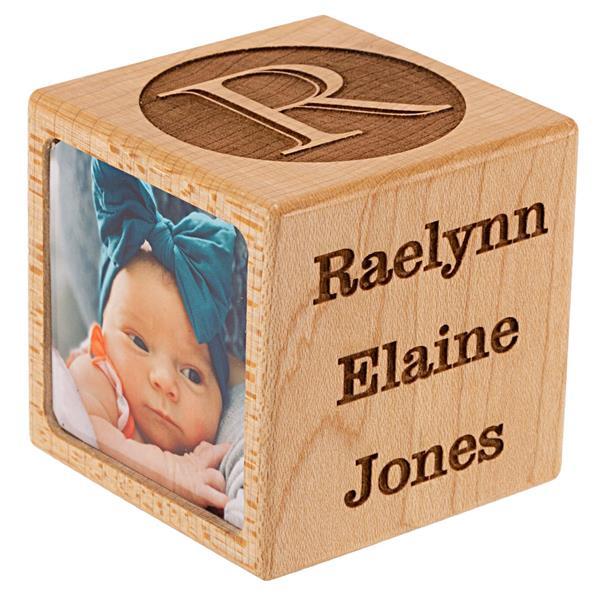 Baby Block Photo Holder Side 1