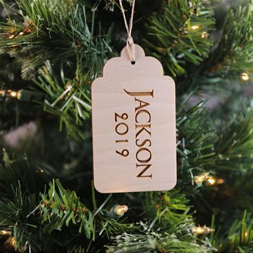 Gift Tag on Tree Natural
