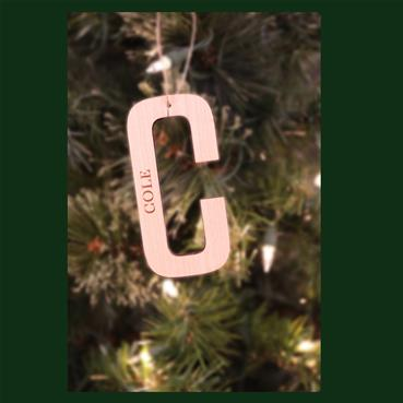 All Natural Initial Ornament