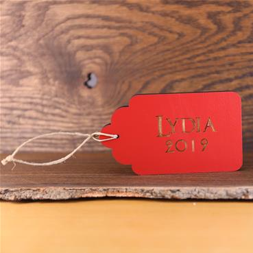 Red Gift Tag Ornament