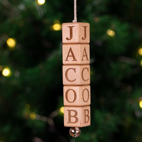 Jingle Block Ornament