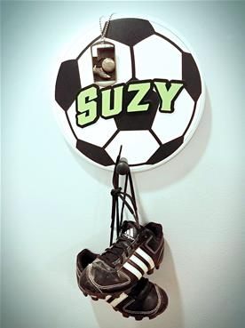 soccer ball with cleats