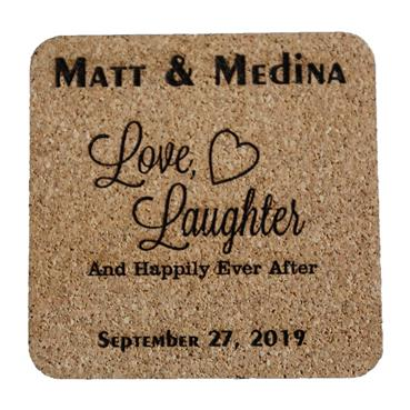 Happily Ever After Wedding or Anniversary Coaster