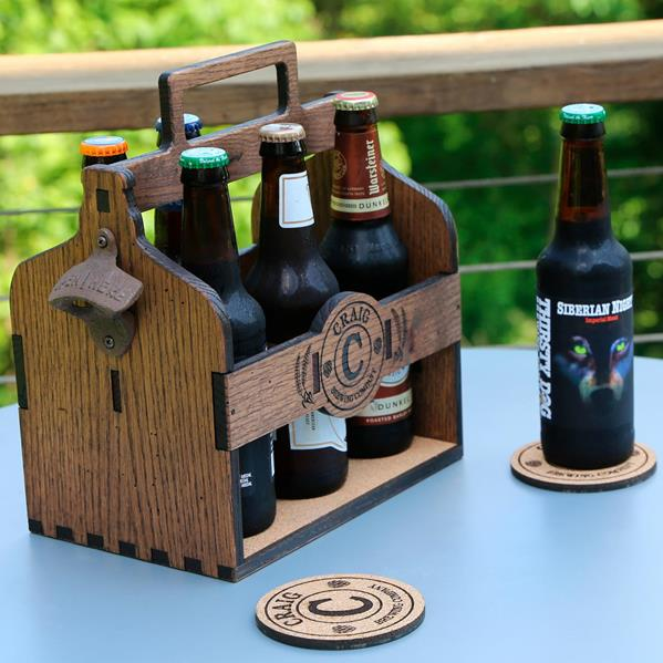 Beer Caddy with Opener view
